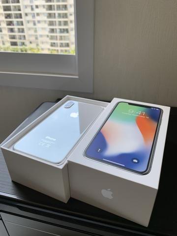 IPhone X, 256 GB , Silver, Semi-novo!