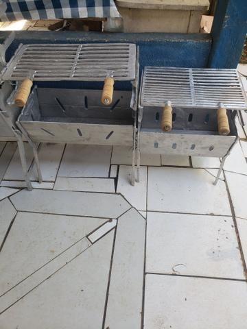 Churrasqueiras de alumínio desmontável