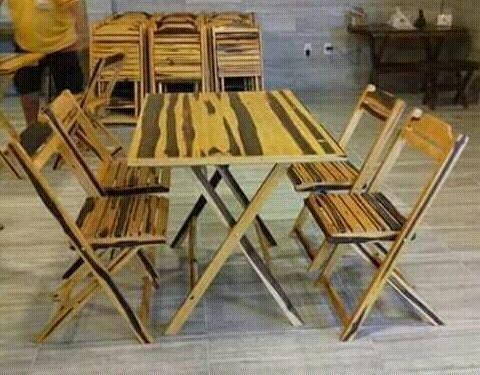 Conjunto de mesas c/ cadeiras - Foto 2