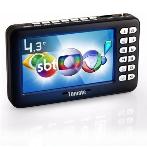 Tv Digital Portátil Hd Tela 4.3 Monitor Mtm-403 Tomate Usb Sd Rádio Fm Bateria Microfone - Foto 5