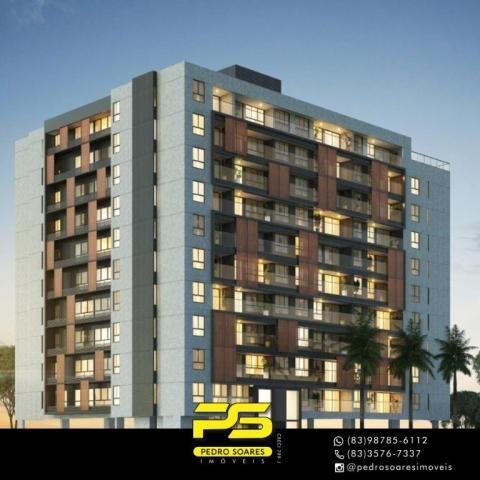 Apartamento com 2 dormitórios à venda, 60 m² por R$ 468.000 - Cabo Branco - João Pessoa/PB