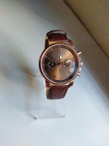 Relógio Feminino Geneva de Couro (Promoção) - Foto 3