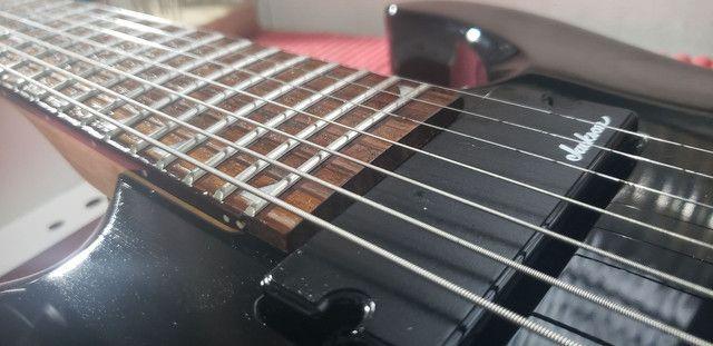 Guitarra Jackson 7 sete cordas  - Foto 6