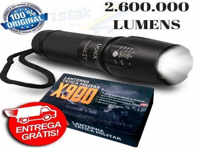 Lanterna Militar X900 Original Led 8000 Lumens 2000x Novo-Entrega Grátis