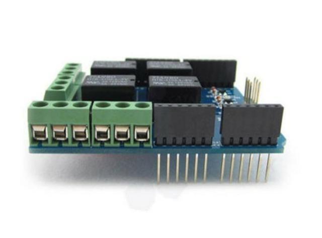 COD-AM182  Modulo Shield Com Relé Com Relé 4 Canais Arduino Automação Robotica - Foto 2