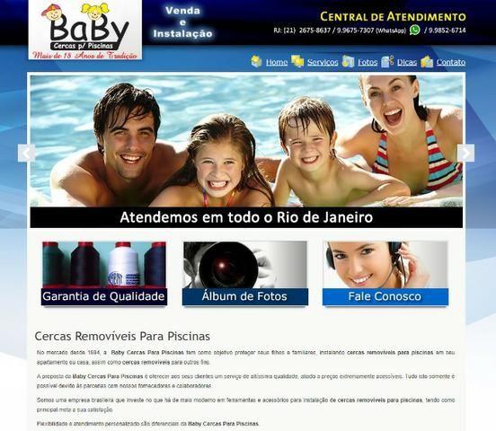 Cercas Removíveis | Cercas de Proteção para Piscinas | Baby Piscinas | (21) 2675-8637