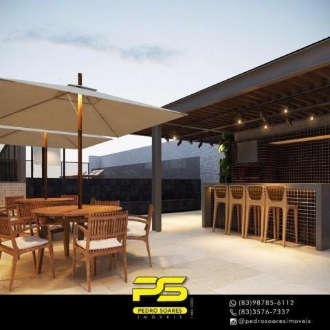 Apartamento com 2 dormitórios à venda, 60 m² por R$ 468.000 - Cabo Branco - João Pessoa/PB - Foto 8
