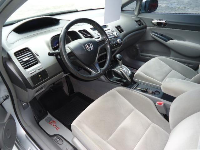 Honda civic lxs 1.8 flex 4p ano 2008 prata - Foto 6