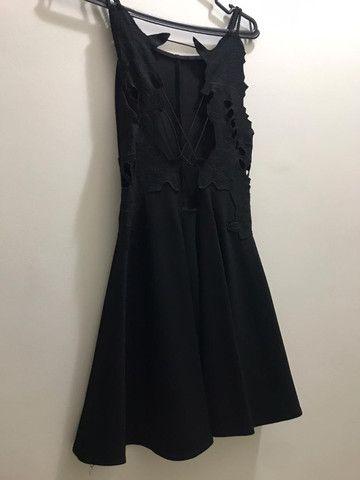 Vestido curto preto - Foto 4