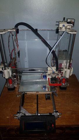 Impressora 3D frame de acrílico pronta pra uso. - Foto 3