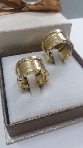 Alianças BVLGARI em ouro 18k  - Foto 3