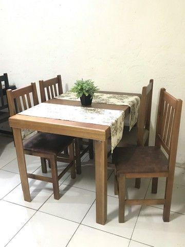 Mesa c/ 4 cadeiras estofadas para Restaurantes/Lanchonetes/Pizzaria - Foto 3