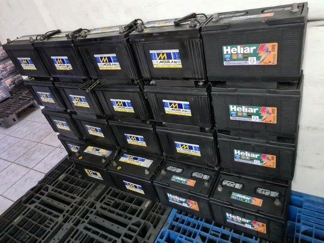 Baterias semi novas de 100ah Moura e Heliar  - Foto 3