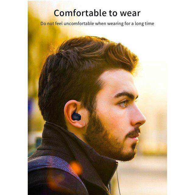 Hyface Mini Fone De Ouvido Intra-Auricular Bluetooth 5.0 De Pareamento Autom Tico - Foto 3