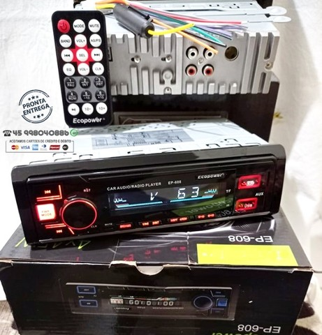 Radio bluetooth (Ligaçoes/Musica)-usb- Aux-Cart de Memoria-4 Saida RCA  Novo - Foto 2