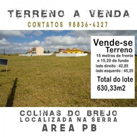 Terreno na cidade de Area Paraíba