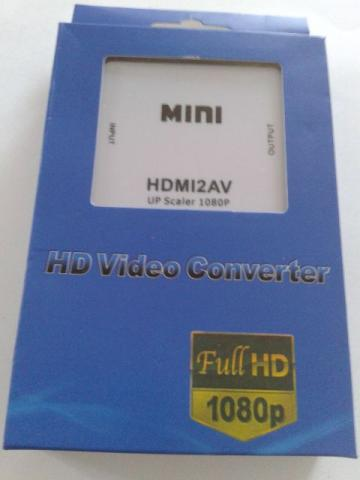 Conversor de video HDMI x video composto av