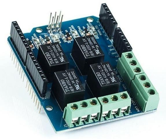 COD-AM182  Modulo Shield Com Relé Com Relé 4 Canais Arduino Automação Robotica - Foto 4