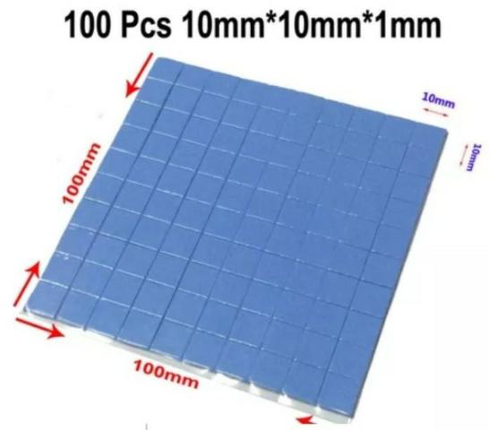 COD-CP232 100x Thermal Pad Termico Dissipador Chipset Memori 10x10x1mm - Foto 2