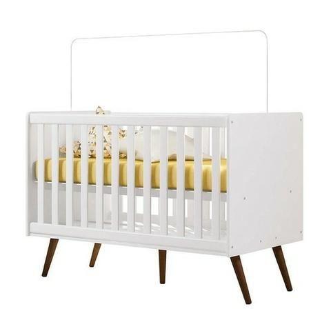 Quarto de Bebê Retrô Branco Brilho -Qmovi - Promoção - Embarque imediato - Foto 4
