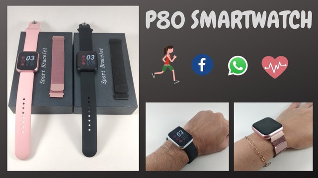 Relógio SmartWatch P80 Touch Screen ( Android e iOS) - Foto 6