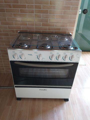 Fogão Esmaltec Veneza 6 bocas com acendimento automático e forno 87lts
