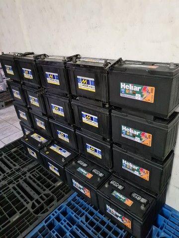 Baterias semi novas de 100ah Moura e Heliar
