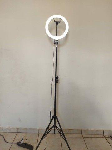 RING LIGHT 30 CM DE ANEL DE LED+ TRIPÉ REGULÁVEL 2.10 MTS - Foto 2