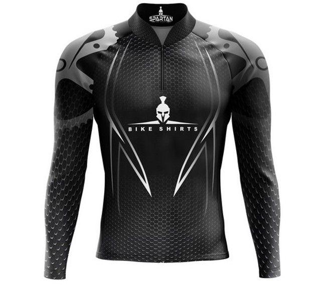 Camisa ciclista bike mangalLonga - Marca Spartan proteção solar FPU 50+ - Foto 3