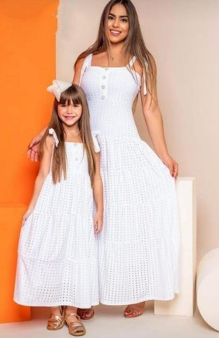 Vestido branco Tal mãe Tal filha (Branco) - Foto 3