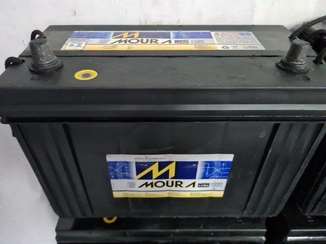 Baterias semi novas de 100ah Moura e Heliar  - Foto 6