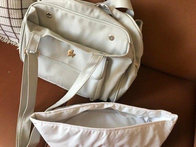 Bolsa Maternidade/Passeio de Couro Off White - Foto 5