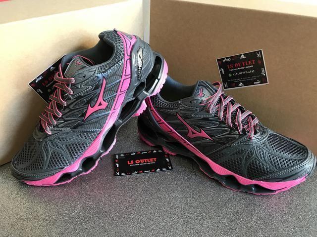 Lançamento tênis Mizuno Pro7 feminino cinza rosa - Roupas e calçados ... 9ca08f739440c