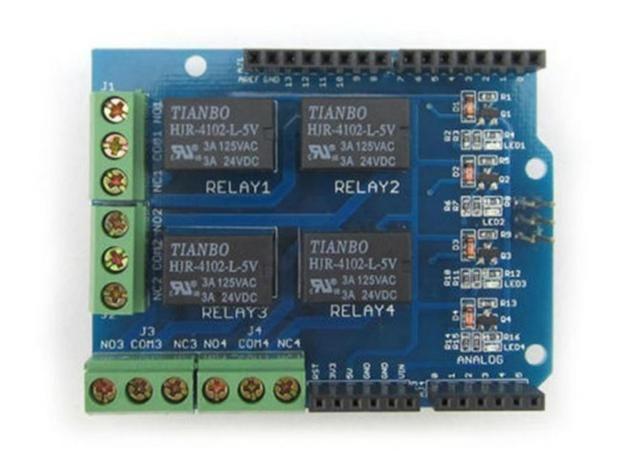 COD-AM182  Modulo Shield Com Relé Com Relé 4 Canais Arduino Automação Robotica - Foto 3