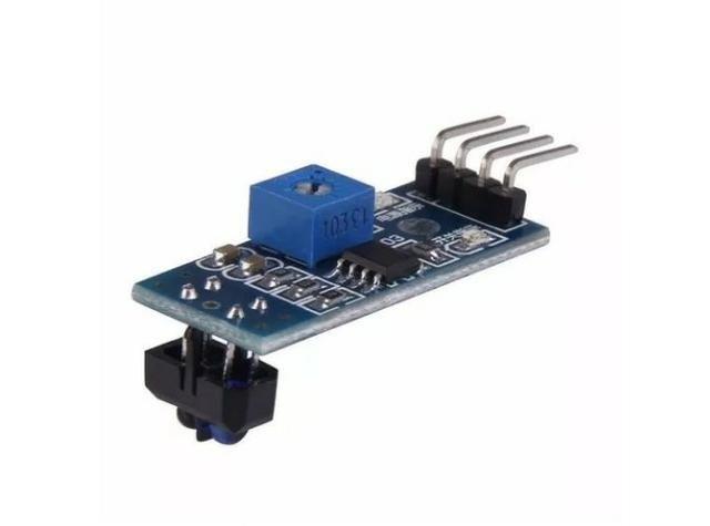 COD-AM64 Sensor De Linha Segue Faixa Infravermelho Tcrt5000 Arduino Robotica Automação - Foto 4