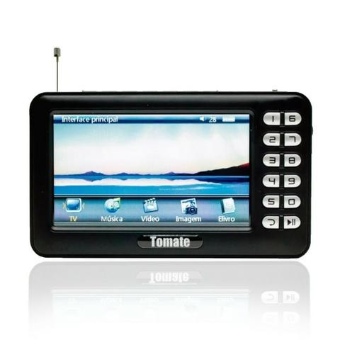 Tv Digital Portátil Hd Tela 4.3 Monitor Mtm-403 Tomate Usb Sd Rádio Fm Bateria Microfone - Foto 3