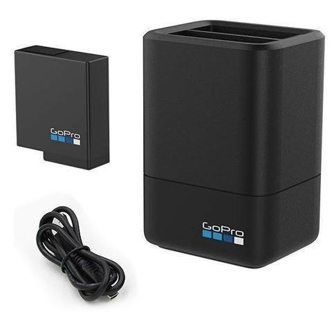 Carregador Dual+bateria P/ Gopro Hero 5/6/7 Black Aadbd-001 - Foto 2