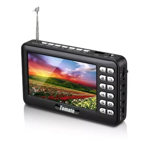 Tv Digital Portátil Hd Tela 4.3 Monitor Mtm-403 Tomate Usb Sd Rádio Fm Bateria Microfone - Foto 2