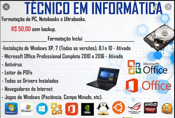 Formatação, backup, instalação drivers, softwares. - Foto 2