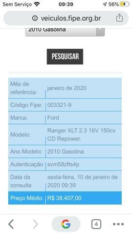 Ford Ranger XLT 2010 Gasolina - Vendo ou Troco - Foto 8