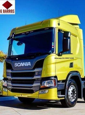 Scania P320 8x2 Aut Cabine leito Completo chassis 2021 - Foto 2