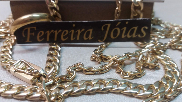 Corrente grumet elo italiano em ouro 18k  - Foto 5