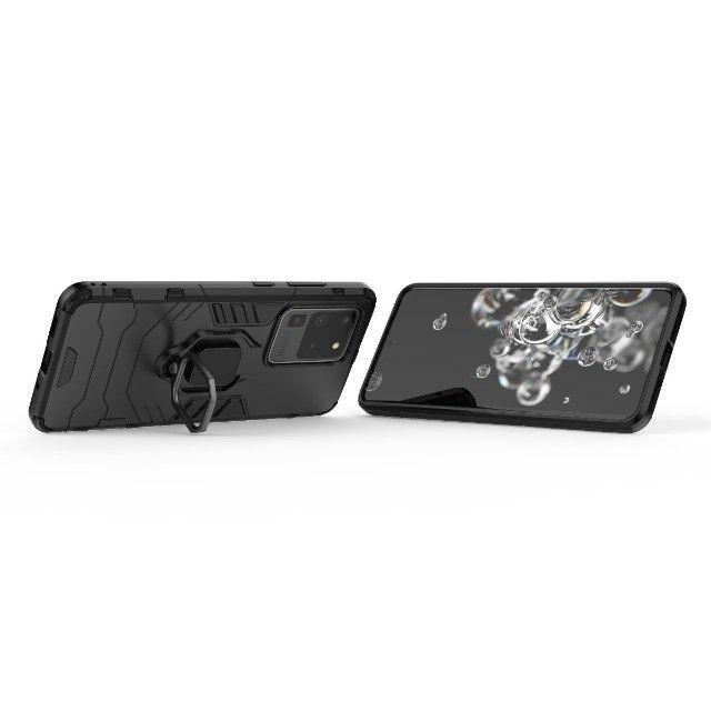 Capa 4 em 1 Anti Impacto Choque Militar Samsung Galaxy S20 Ultra, aceito cartão - Foto 5