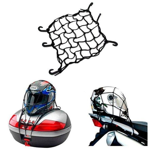 Rede elástica para capacete