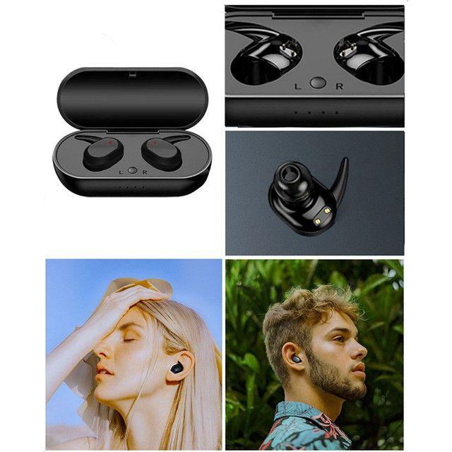Hyface Mini Fone De Ouvido Intra-Auricular Bluetooth 5.0 De Pareamento Autom Tico