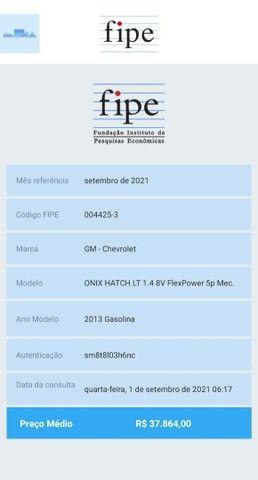 Onix LT 1.4 Flex 2013 muito novo + multimídia (top completo) - Foto 19