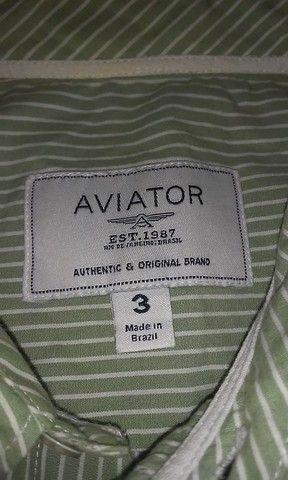 Camisa Aviator manga curta - Foto 3