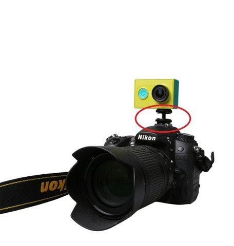 Adaptador Hot Shoe, Gopro, Dslr Iluminador E Gravador Rosca - novo - Foto 5