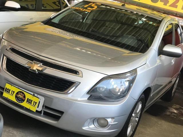 Chevrolet Cobalt 2015 + GNV ltz (mylink, volante multifuncional, automático TOP de linha) - Foto 2