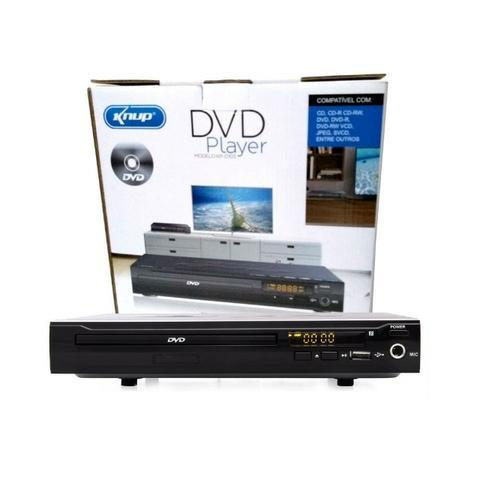 Aparelho DVD Player Rca 2.0 Canais USB Mp3 Cd Ripping Karaoke Knup Preto KP-D103 Bivolt - Foto 3